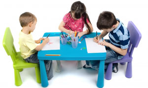 Picture of kids at a table