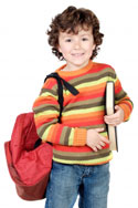 Picture of a boy ready for school